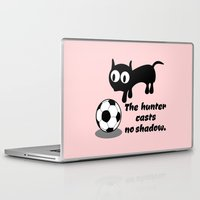 football Laptop & iPad Skins featuring Cat Football by mailboxdisco