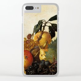 "Michelangelo Merisi da Caravaggio ""Basket of Fruit"" Clear iPhone Case"
