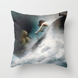 Karl Wilhelm Diefenbach - To The Rescue - Digital Remastered Edition Throw Pillow
