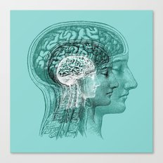 Meditating Brain Canvas Print