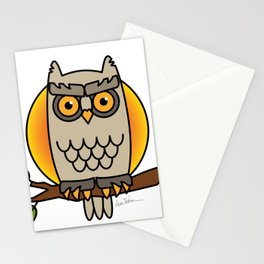 Owl in a Circle Stationery Cards