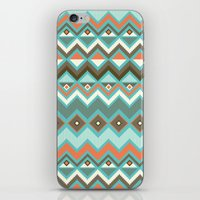aztec iPhone & iPod Skins featuring Aztec by Priscila Peress