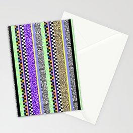 Leopard Zebra Check Stripe Mixed Pattern - Vertical I Stationery Cards