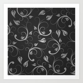 Floral Abstract Vine Art Print Design Art Print