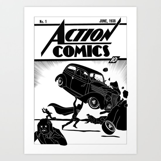 Action Comics #1 Redux Art Print
