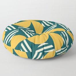 Half Moon Crescent Mid Century Pattern Floor Pillow
