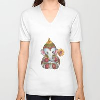 ganesh V-neck T-shirts featuring Ganesh by coconuttowers
