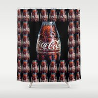 coca cola Shower Curtains featuring The Real... by LesImagesdeJon
