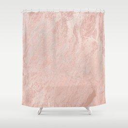 Rose Gold Foil Shower Curtain