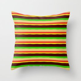 Burger Pattern Throw Pillow