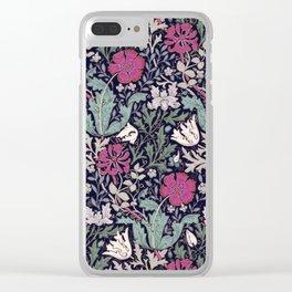 Poppies - William Morris Clear iPhone Case