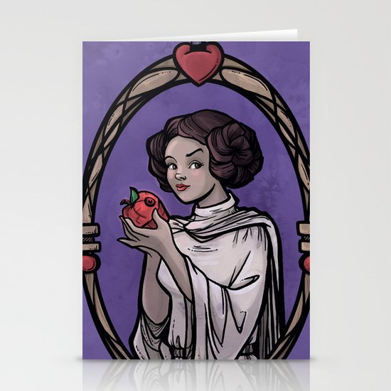 Snow Organa and the Poisoned Death Star Stationery Cards
