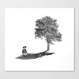 Shady Canvas Print