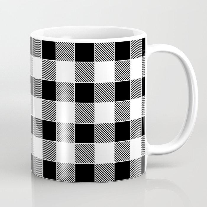 Buffalo Check Black White Coffee Mug By Funkyjunkinteriors