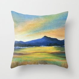 Morning Bliss, Imaginary Landscape Throw Pillow