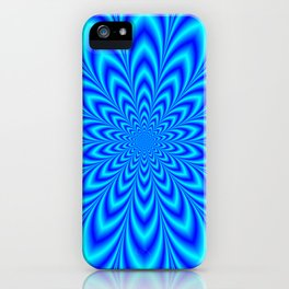 Star Flower in Shades of Blue iPhone Case