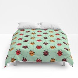 Lady Bug Green Comforters