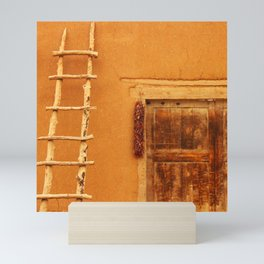 Adobe With Ladder And Ristra - Iconic Southwest Mini Art Print