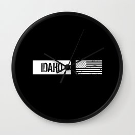 US Flag: Idaho Wall Clock