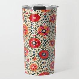 Kermina Suzani Uzbekistan Embroidery Print Travel Mug