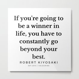 42  |  Robert Kiyosaki Quotes | 190824 Metal Print