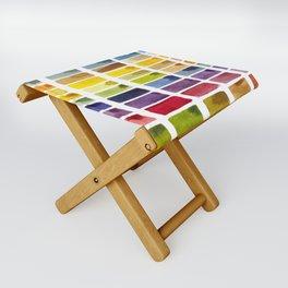 Watercolor Rainbow Tile Folding Stool