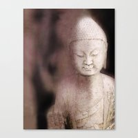 buddah Canvas Prints featuring Buddah 1 by Linda K. Photography & Design