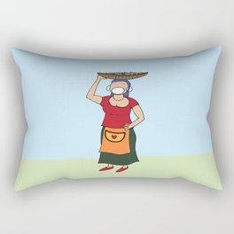 The Fisherwoman Rectangular Pillow