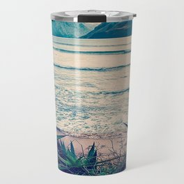 Tropical Island Moutain Collage Travel Mug