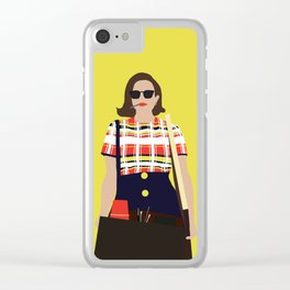 Peggy Olson Mad Men Clear iPhone Case