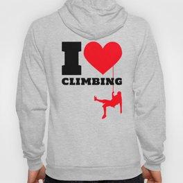I love Climbing - Funny Climber Gift Hoody