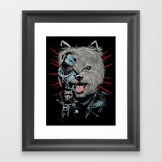 THE TERRIERMINATOR Framed Art Print