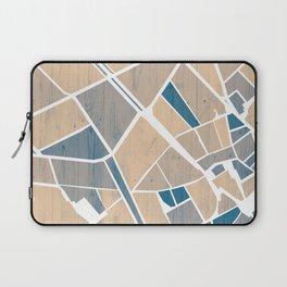 Barcelona City Center Map in Blue Laptop Sleeve