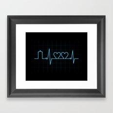 Two Heartbeats Framed Art Print