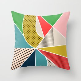 color segments 002 Throw Pillow