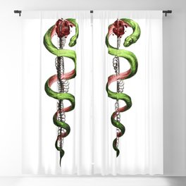 Rod of Asclepius Blackout Curtain