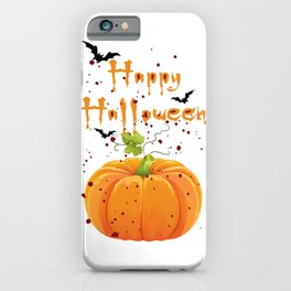 Happy Halloween,T-shirt Tshirt Shirt Tees Transparent Graphic Design  iPhone Case