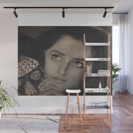 Beautiful Woman in Charcoal Wall Mural