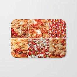 Fresh Hot Homemade Pepperoni Pizza Bath Mat