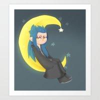 Saix On the Moon Art Print