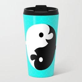 Yin Yang Dolphins Travel Mug