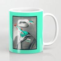 marine Mugs featuring Sardine marine by AmDuf