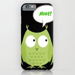 Owl Cartoon - Hoot iPhone Case