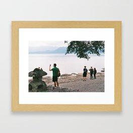 Lake Tazawa Framed Art Print