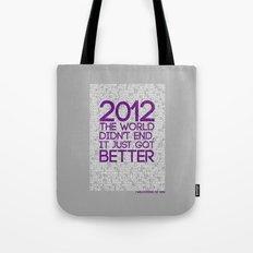 2012...It Was Emotional Tote Bag