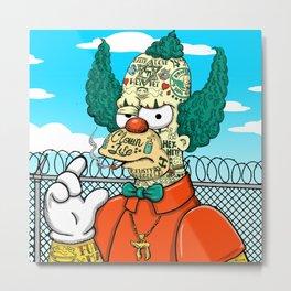 Prison Clown Metal Print