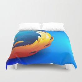 Fire Fox - Graphic Art (Style - 2) Duvet Cover