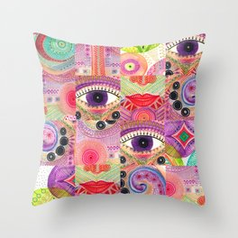 colorful words of a poem Throw Pillow