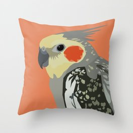 Marcus the cockatiel Throw Pillow