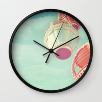 carnival Wall Clocks featuring Carnival  by Scarlett Ella